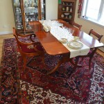 Dining Room table, rug