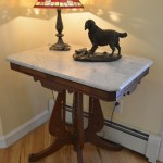 Marble top table, Heikka bronze